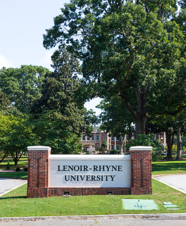 HICKORY, NORTH CAROLINA,  USA-9118: Lenoir-Rhyne University, formerly Lenoir-Rhyne College.