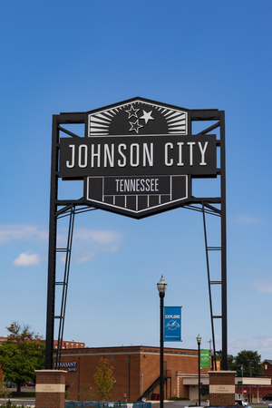 Large sign in downtown proclaiming