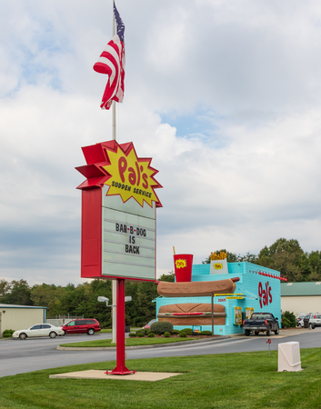 Greeneville, TN, USA-10-2-18: A Pals fast food diner in Greeneville, with other stores in Tennessee and southwestern Virginia.