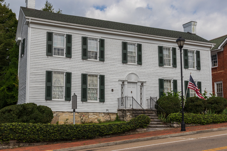 Greeneville, TN, USA-10-2-18: This house was built in 1795 by Valentine Sevier, younger brother of John Sevier.