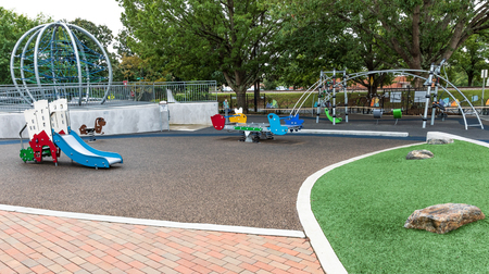 HICKORY, NC, USA-101418: Playground in downtown Hickory.