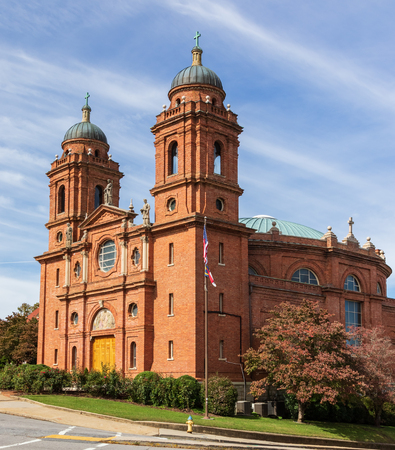 ASHEVILLE, NC, USA-101718: The Basilica of St. Lawrence in Asheville, a  Catholic church given the name of Redakční