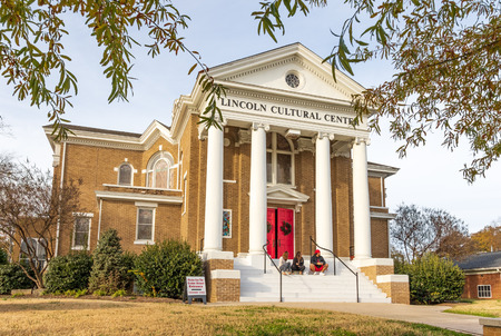 LINCOLNTON, NC, USA-112518: Formerly the First Baptist Church building, the Lincoln Cultural Center serves  Lincoln county as a non-profit organization.