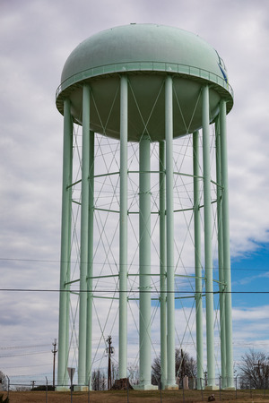 HICKORY, NC, USA-2119: An elevated water storage tank.