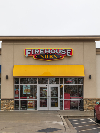 HICKORY, NC, USA-1319: Firehouse Subs is a US-based fast food restaurant chain, with over 1100 franchise restaurants.