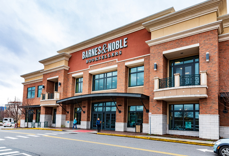 ASHEVILLE, NC, USA-11819:  A Barnes & Noble store at Asheville mall on Tunnel Road.