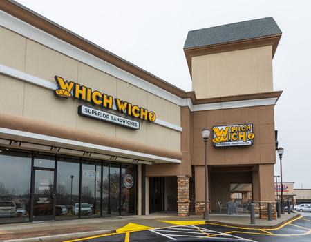HICKORY, NC, USA-1319: Which Wich is an American fast food restaurant chain, currently with 400 locations in 36 states and D.C., and 27 international locations. Redakční