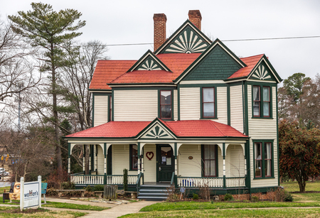HICKORY, NC, USA-21719: The Hickory Womens Resource Center is located in an historic parsonage, situated in the Ivy Arboretum at Sally Fox park in downtown.