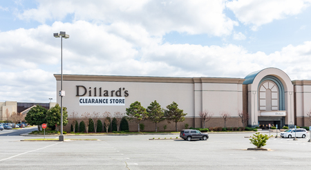 GASTONIA, NC, USA-31419: A Dillards Department store labelled as a Editorial