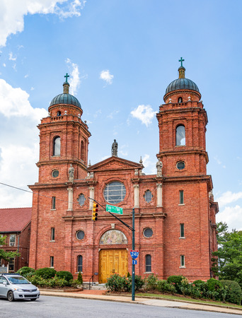 ASHEVILLE, NC, USA-53119: The Basilica of St. Lawrence in Asheville, a  Catholic church given the name of