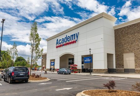 MOORESVILLE, NC, USA-JUNE 19, 2019: A newly opened Academy Sports retail store.