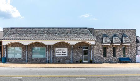 SPINDALE, NC, USA-27 jULY 19:  American Dairy Goat Association building sets on Main St.  It preserves pedigrees, maintains herd books, and sanctions shows.  ADGA is a non-profit corporation. Redakční
