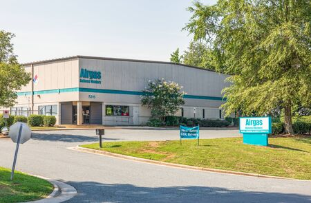 CHARLOTTE, NC, USA-28 July 2019: Airgas is a supplier of industrial, medical and specialty gases, and hardgoods and related products.
