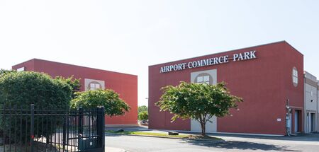 CHARLOTTE, NC, USA-28 July 2019: The Airport Commerce Park is a multi-use, light distribution park on Old Dowd Road in Charlotte.