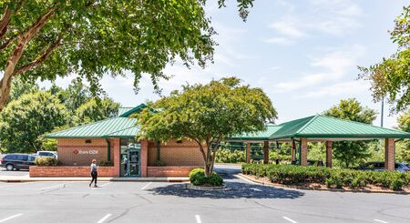 SHELBY, NC, USA-9 AUGUST 2019: Bank OZK, formerly  Bank of the Ozarks.  There are more than 250 locations, mostly in the southeastern US. Redakční