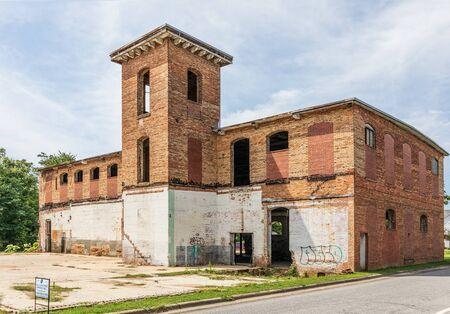 LINCOLNTON, NC, USA-9 AUGUST 2019: The Lineberger Bros. Cotton Mill Eureka Mfg. Company Cotton Mill