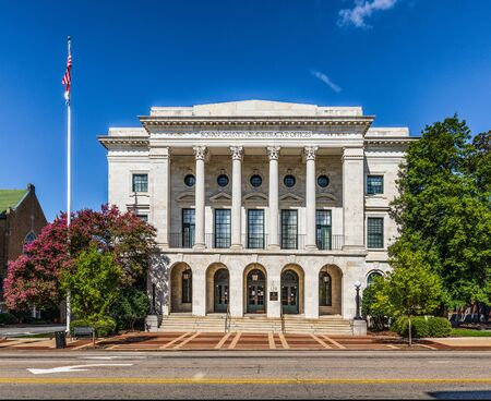 SALISBURY, NC, USA-1 SEPTEMBER 2019: Orignally the Rowan County Post Office and Federal Courthouse, built in 1910, the building now houses county administration offices.  A restoration was completed in 1996.