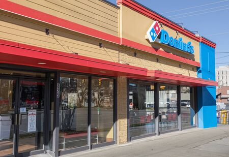COLUMBIA, SC, USA-8 JANUARY 2010:  A Domino's Pizza, also branded just as