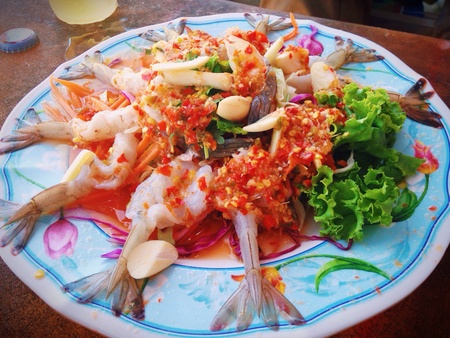sea food: Shrimp in fish sauce thai sea food