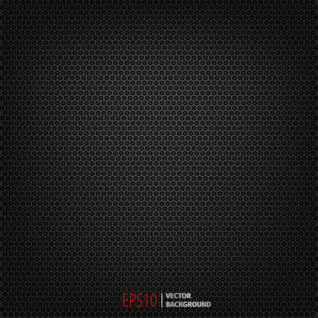 Carbon seamless dark pattern vector background. Polygon texture pattern. Ilustração