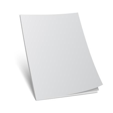 kniha: Vektorové ilustrace. Prázdná obálka časopisu template.3d kniha s prázdnou krytem.