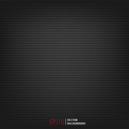 Abstract dark black background with horizontal lines. Vector EPS10.