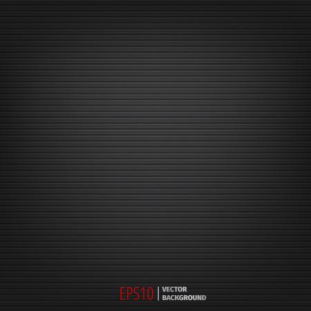 Abstracte donkere zwarte achtergrond met horizontale lijnen. Vector EPS10.