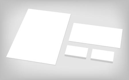 명함, 편지지, 봉투. CI 발표에 대한 고정 브랜딩 템플릿입니다. 기업의 정체성 서식 파일 집합입니다.