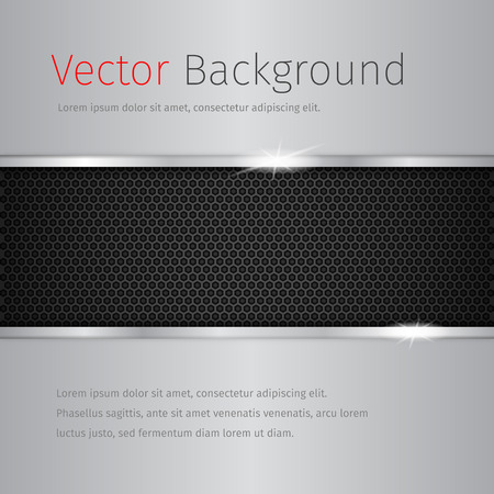 Glossy vector avstract background with chrome texture. Vector