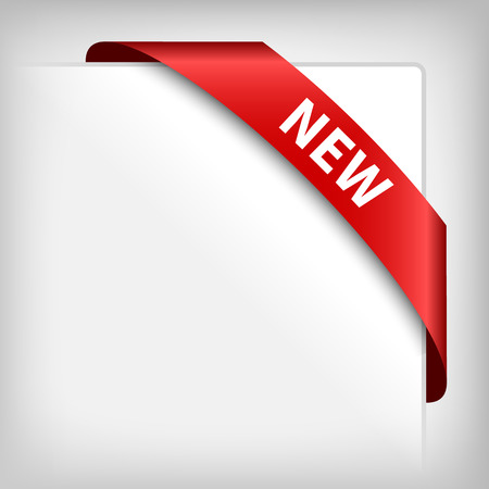 corner tab: New red corner ribbon on white.