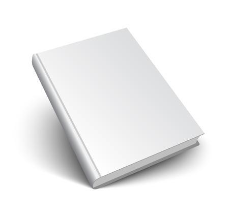 book: Prázdné kniha mockup s stín na bílém. 3d vektorové ilustrace.