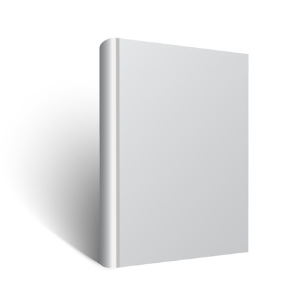 Blank book mockup. Vector EPS 10 illustration. White background. 矢量图像