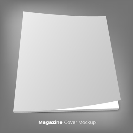business book: Blank brochure or magazine mockup.
