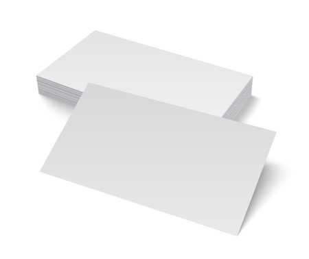 blank business card: Stack of blank empty business card isolated on white background with soft shadows. Vector illustration EPS10.