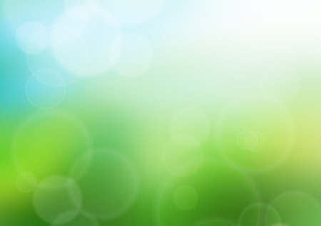 flair: Summer bokeh background illustration. Glowing summer and grass. Stock Photo