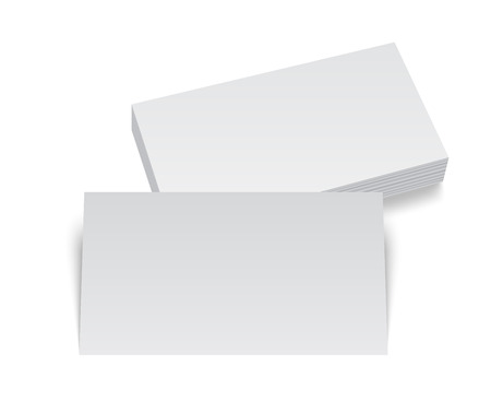 ci: Isolated stack of blank business card on white background with soft shadows. Vector EPS10 illustration.
