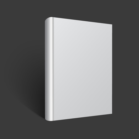 Blank book mockup. Vector EPS 10 illustration. White cover for design.