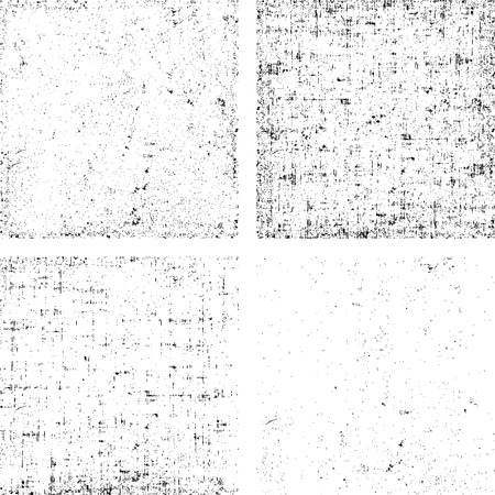 Set of grunge black and white stripe vector. Collection of dirt overlay texture ready to place over any objects. Vectores