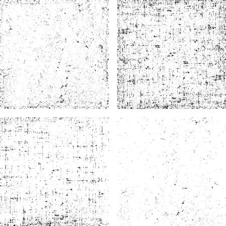 Set van grunge zwart-witte streep vector. Het verzamelen van vuil overlay textuur klaar om plaats over voorwerpen.