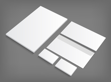 Corporate identity templates presentation. Vector   illustration on gray background with shadow.