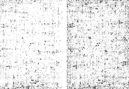 Twee vuil grunge textuur klaar om eventuele voorwerpen bedekken. Zwart-wit vector illustratie.