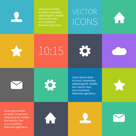 interface design: Box infographic or user interface design. Simple icons. Illustration
