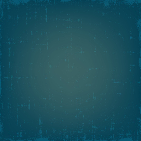 Vintage grunge vector texture with dust. Blue retro gradient background.