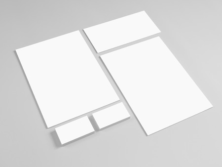 prints: Template for branding identity on gray. Mock-up for graphic designers.