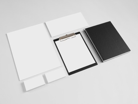 branding: Set of branding corporate design templates with notebook and notepad. Stationery with business cards and envelope.