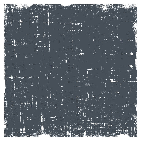 polvo: Grunge vector texture with dust and rough edges. Gray gradient background with white border.