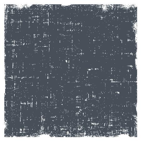 Grunge vector textuur met stof en ruwe randen. Grijze gradient achtergrond met witte rand.