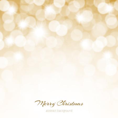 Kort kerstmis schitterende achtergrond met sterren en verlichting. Stockfoto