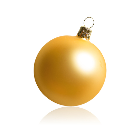 golden ball: Golden christmas ball isolated on white background