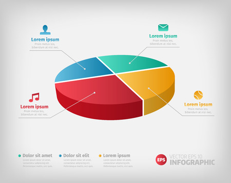 Simple Pie Chart Graphic For Business Design Or Infographics